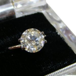 Genuine Diamond 2 Carat Round Ring