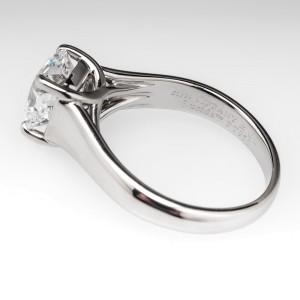 Tiffany & Co. Lucida Platinum & 2.56 ct Diamond Engagement Ring Size 7.25