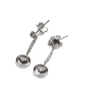 18k Piero Mila Diamond Earrings