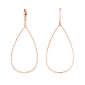 Jordan Scott Design Sc Micro Pave Open Pearshape Earrings