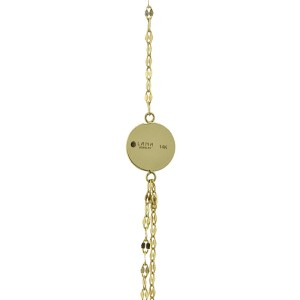 Lana Jewelry 14K Yellow Gold Tri Disc Necklace
