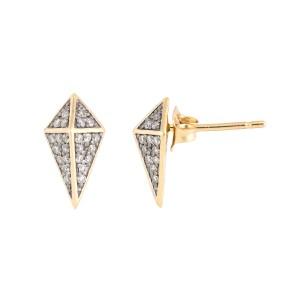 Jordan Scott Design Squared Bullet Stud Earring
