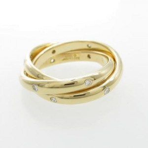 Cartier 18K Yellow Gold Constellation Diamond Ring Size 5.75