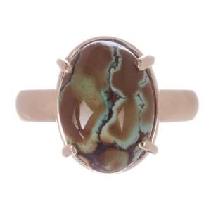 Alberto Juan 14 kt Gold Turquoise Cabochon Ring