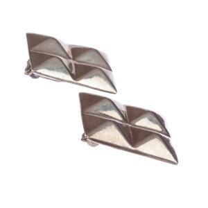Sterling Silver Spike Punk Earrings