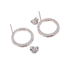 Sterling Silver Circle Eternity Cubic Zirconia Earrings