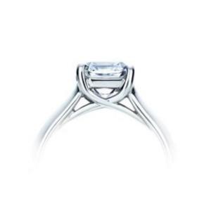 Tiffany & Co. Platinum Lucida Diamond Ring