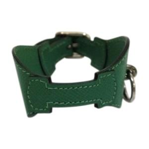 Hermes Epsom Leather Green Bangle Bracelet