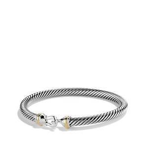 David Yurman Sterling Silver & 18K Yellow Gold Cable Classics Bracelet