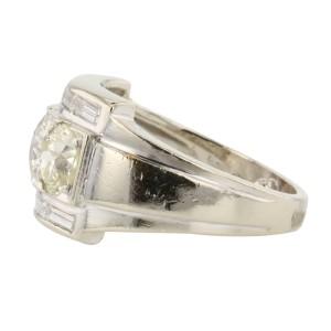 White Gold & European Cut Diamond Ring