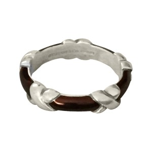 Tiffany & Co. Sterling Silver Black Enamel Eternity Ring
