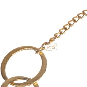 Kenneth Lane Hammered Circle Link Necklace