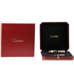 Cartier Love 18K Rose Gold Half Diamond B6036017 Bracelet Size 19