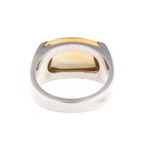 Bvlgari 18k White Gold Citrine Ring