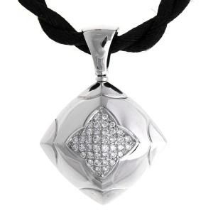 Bvlgari 18k White Gold Diamond Pyramid Set