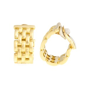 Cartier 18k Yellow Gold Panthere Earrings