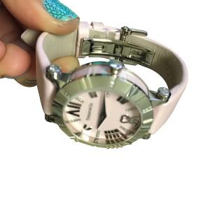 Tiffany Co Atlas Watch 18K White Gold Diamonds Pink 30mm Watch