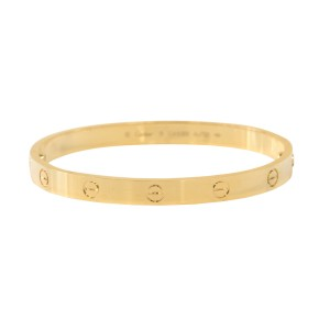 Cartier Love Bracelet 18K Yellow Gold Size 16