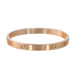 Cartier Love B6035617 Bracelet Rose Gold Size 17