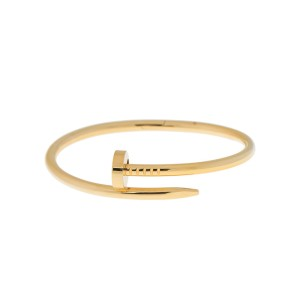 Cartier Juste Un Clou B6037817 Yellow Gold Bracelet Size 18