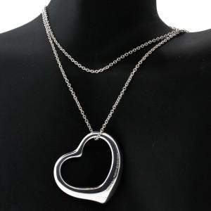 Tiffany & Co. Peretti Open Heart Pendant Necklace