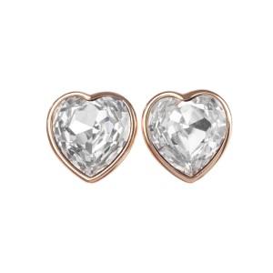 Runway Christian Dior Headlight Cubic Zirconia Heart Earrings