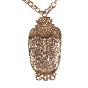 Pauline Rader Etruscan Style Pendant Necklace