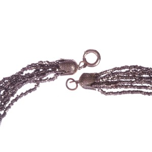 Victorian Cut Steel Bead Necklace