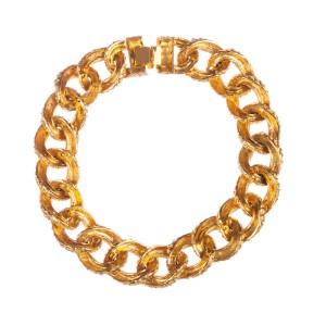 Mimi Di N Textured Chain Collar Necklace