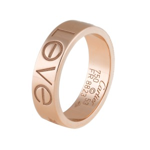 Cartier Pink Gold Love Ring Size 6.25