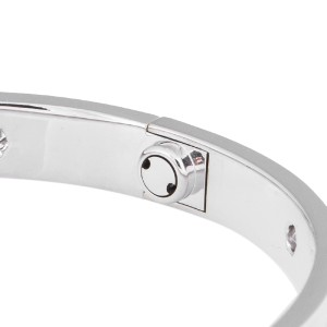 Cartier Love B6040717 White Gold With Diamonds Bracelet Size 17