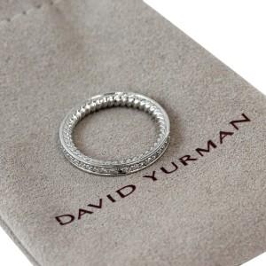 David Yurman Platinum Diamond Eternity Band