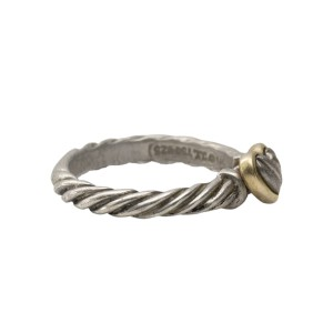 David Yurman Two Tone Cable Heart Ring