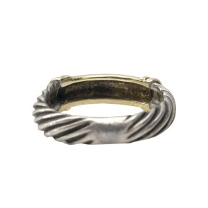 David Yurman Two Tone Cable Ring