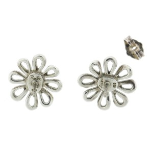 Tiffany & Co. Paloma Picasso 18k Yellow Gold and Sterling Silver Daisy Earrings