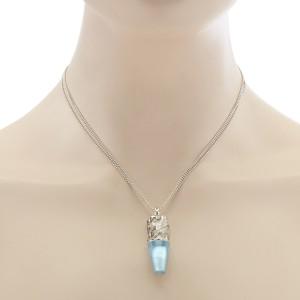 Magerit Babylon Caramelo Large 18K White Gold Diamond & Topaz Pendant Necklace
