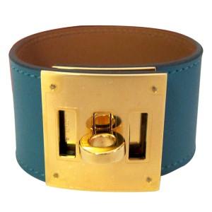 Hermes Malachite Kelly Dog Gold Hardware