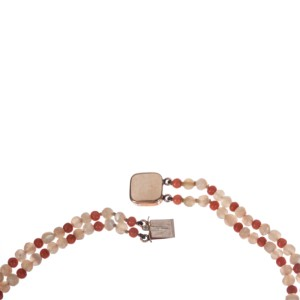 Red Coral Mother Of Pearl Bead Necklace