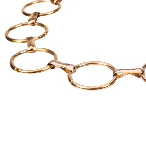 Yves Saint Laurent Metal Circular Chain Necklace Belt