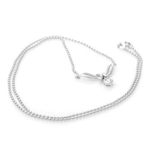 18K White Gold Diamond Charm Necklace
