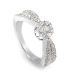 14K White Gold Diamond Promise Ring