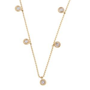 Rina Limor Gold Diamond Station Necklace