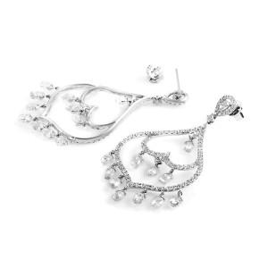 Odelia 18K White Gold Diamond Chandelier Earrings