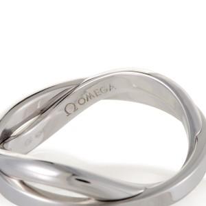 Omega 18K White Gold Band Ring Size 9
