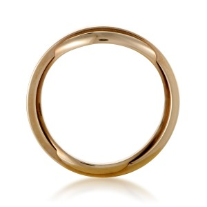 Omega Twisted 18K Yellow Gold Wedding Band Ring Size 9.5