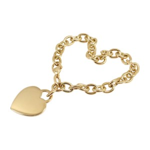 Tiffany & Co. 18K Yellow Gold Heart Tag Charm Bracelet