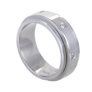 Piaget 18K White Gold & Diamond Band Ring Size 7.0