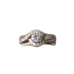 14K Two Tone Gold Diamond Engagement Ring