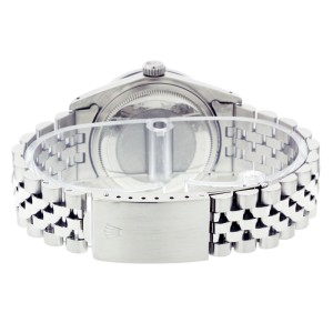 Rolex Datejust 16014 36mm Silver Diamond Stainless Steel Watch