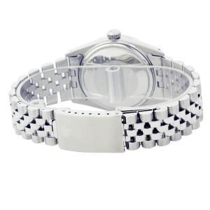 Rolex Datejust 16014 18K White Gold & Stainless Steel Diamond 36mm Mens Watch